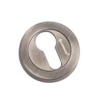 Накладка круглая под евроцилиндр Archie CL-20G BL.SILVER черненое серебро