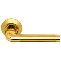 Межкомнатная дверная ручка Archie S010 47II комбинация матового и блестящего золота
