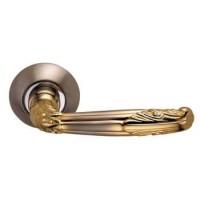 Межкомнатная дверная ручка Archie S010 112HH комбинация белого никеля и золота
