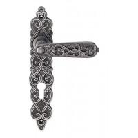 Межкомнатная дверная ручка Archie Genesis Arabesco черненое серебро