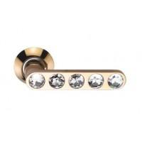 Межкомнатная дверная ручка Archie Sillur 200 crystal золото/стразы