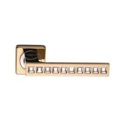 Межкомнатная дверная ручка Archie Sillur C199 crystal золото/стразы