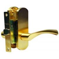 Многофункциональная дверная ручка Archie на короткой накладке T111-X11I-V3 с защелкой