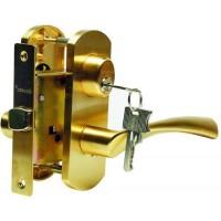 Многофункциональная дверная ручка Archie на короткой накладке T111-X11I-V1, защелка-фиксатор с ключом