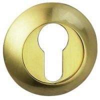 Накладка круглая под евроцилиндр Bussare B0-10 матовое золото