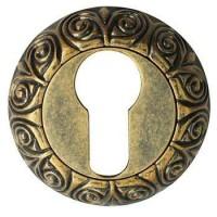 Накладка круглая под евроцилиндр Bussare B0-20 античная латунь