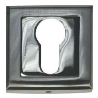 Накладка квадратная под евроцилиндр Bussare B0-30 матовый хром