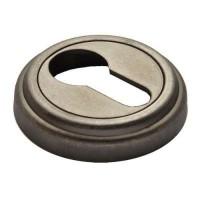 Накладка круглая под евроцилиндр Morelli MK-KH-CLASSIC OMS старое матовое серебро