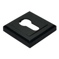 Накладка квадратная под евроцилиндр Morelli MH-KH-S BL черная