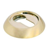 Накладка круглая под евроцилиндр Morelli MK-KH SG/GP Матовое золото