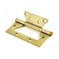 Стальные универсальные дверные петли без врезки Morelli RFH SG Матовое золото