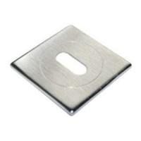 Накладка квадратная под ключ Morelli Luxury LUX-FK-S CSA матовый хром