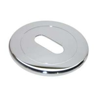 Накладка круглая под ключ Morelli Luxury LUX-FK CRO хром