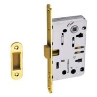 Магнитная дверная защелка под сантехническую завертку Palidore L 3090 PB золото