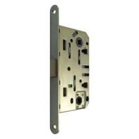 Дверная защелка сантехническая с ответной планкой Vantage / Вантаж P96 SB матовое золото